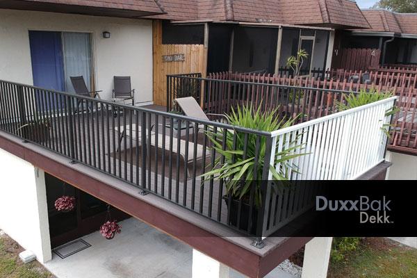 image of a DuxxBak Dekk residential dekk over carport.